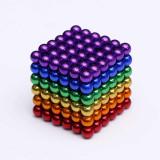 Joc de construit tip puzzle,antistres,din 216 bile magnetice Neodim,multicolor