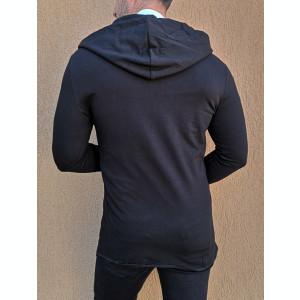 Cardigan negru Cardigan slim fit Cardigan barbat cod 206