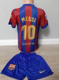 Echipament fotbal pt copii F.C.Barcelona Messi tricou si sort marimea 164