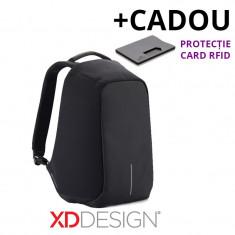 Rucsac laptop Bobby antifurt negru - Original XD Design + Cadou