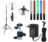 Cumpara ieftin KIT lumina continua Lampa Yongnuo YN360+ stativ+ alimentator+ suport orientabil pentru stativ