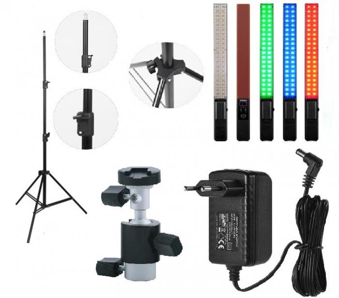 KIT lumina continua Lampa Yongnuo YN360+ stativ+ alimentator+ suport orientabil pentru stativ