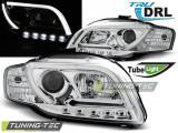 Faruri Audi A4 B7 11.04-03.08 TUBE LIGHTS Crom TRU DRL