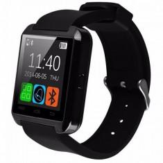 Smartwatch Conectare Telefon Pedometru U-Watch Bluetooth U8+ negru
