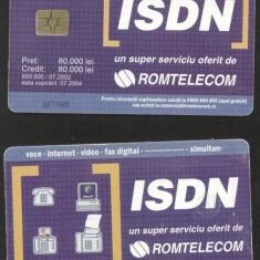 Romania 2002 Telephone card ISDN 80.000 Rom 157 CT.037