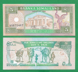 = SOMALILAND - 5 SHILLINGS - 1994 - UNC  =