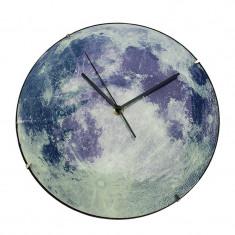 Cumpara ieftin Ceas de perete fosforescent Luna plina, 30 cm, PVC, Resigilat
