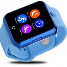 Ceas Smartwatch cu Telefon iUni V88,1.22 inch, BT, 64MB RAM, 128MB ROM, Albastru