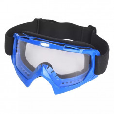Ochelari unisex ski, snowboard, rama albastra - lentila transparenta, O1ALT