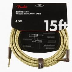 "Cablu Fender Deluxe Instr. 15"" Angled Tweed"