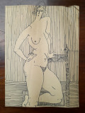 40. Nud femeie - schita , desen in tus