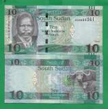= SOUTH SUDAN - 10 POUND - 2016 - UNC    =