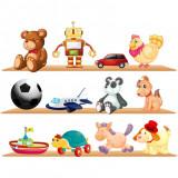 Sticker perete copii Raft cu jucarii 120 x 92 cm
