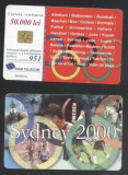 Romania 2000 Telephone card Sydney 2000 Rom 67 CT.095