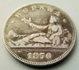 SPANIA - 2 Pesetas 1870 (74) DE M - Argint - Guvernamant provizoriu, Europa