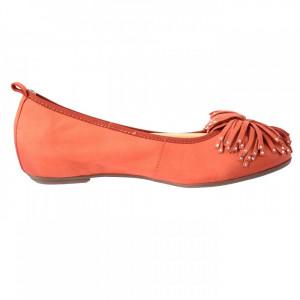 Balerini dama, din piele naturala, marca Caprice, 9-22121-20-11, orange 38.5