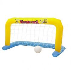 Poarta gonflabila pentru piscina Bestway 52123, dimensiune 137 x 64 x 71 cm, include minge cauciuc Mania Tools