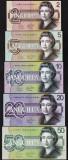 Bancnota Anguilla 5 - 50 Dolari 2019 - UNC ( set x5 hibrid polimer - fantezie )