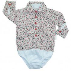 Camasa tip body pentru fetite-Mini Bimbi MNBEF10-R, Rosu