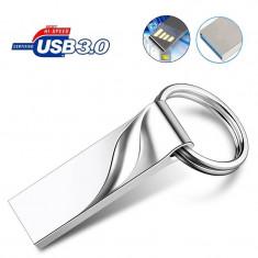 Memorie flash drive tip breloc, USB 3.0, 64 GB, argintiu, Gonga