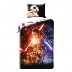 Lenjerie de pat copii Cotton Star Wars Star723BL-200 x 140 cm