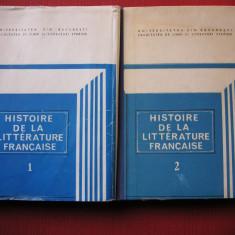 Histoire de la litterature francaise - Angela Ion - vol.1,2