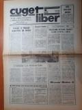 ziarul cuget liber 23 februarie 1990-ziar care apare in  constanta
