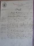 ACTE NOTARIALE VECHI 1893 - MARCA FIXA - TIMBRU SEC - FILIGRAN - CALIGRAFIE