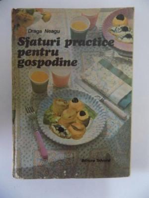 SFATURI PRACTICE PENTRU GOSPODINE de DRAGA NEAGU , 1987 foto