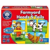 Cumpara ieftin Joc educativ asociere Prietenii de la ferma FARMYARD HEADS & TAILS