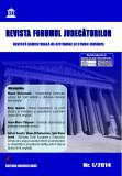 Cumpara ieftin Revista Forumul Judecatorilor - nr. 1 2014