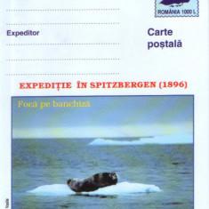 Romania - Intreg postal CP necirculat 2001- Filat. polara-Exped. in Spitzbergen