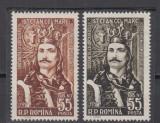 1957 LP 427 - 500 ANI URCAREA PE TRON A LUI STEFAN CEL MARE SERIE MNH, Nestampilat