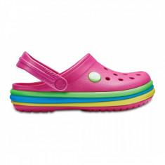 Saboți Copii casual Crocs Crocband Rainbow Band Clog Kids, 24.5, 29.5, 33.5, Roz