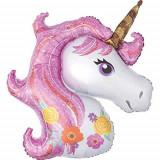 Cumpara ieftin Balon folie Gigant Unicorn Magic, Rainbow, 110 x 87 cm
