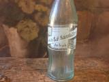 Sticla bautura racoritoare din fructe perioada RSR industria locala Brasov !
