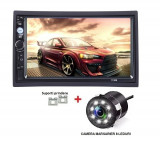 2Din, dvd mp3/mp5 player auto universal 7010b, Navigatie MirrorLink, Rama, Camera