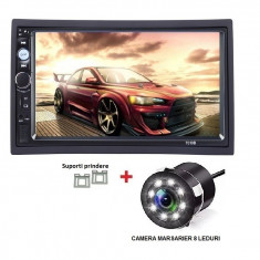 2Din, dvd mp3/mp5 player auto universal 7010b, Navigatie MirrorLink, Rama, Camera