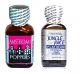 Cumpara ieftin AMSTERDAM + JUNGLE JUICE Poppers 24ml, aroma camera, ORIGINAL, SIGILAT, rush, popers