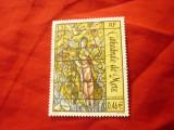 Timbru Franta 2002 - Pictura - Vitraliu M.Chagall, stampilat