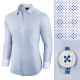 Camasa pentru barbati casual bleu regular fit Business Class Ultra