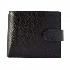 Portofel piele barbati, din piele naturala, Bond, 501-C4-19-19, maro inchis