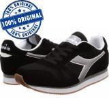 Pantofi sport Diadora Simple Run pentru barbati - adidasi originali, 40.5, 41, 42, 42.5, 43, 44, 44.5, 45, 46, Negru, Textil