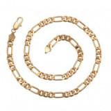 Lant Barbati dublu placat Aur 18k,latime 0,5cm,lungime 55cm,39grame