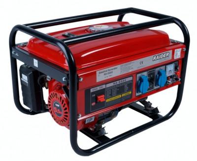 Generator de curent electric 2 KW pe benzina Raider Power Tools foto