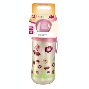 Cana First Cup Girl PP 330 ml, cu clip de prindere, 12+ luni, nip 35050