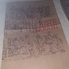 """PROGRAM TEATRUL MIC BUCURESTI 1980 SPECTACOL """"NISTE TARANI"""""""