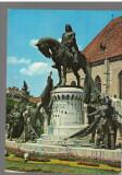 CPIB 17228 CARTE POSTALA - CLUJ NAPOCA. STATUIA LUI MATEI CORVIN, Circulata, Fotografie
