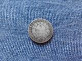 2 Francs 1871 Franta moneda argint, franci, Europa