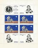 România, LP 758a/1971, Apollo 14, bloc de 4 timbre, MNH